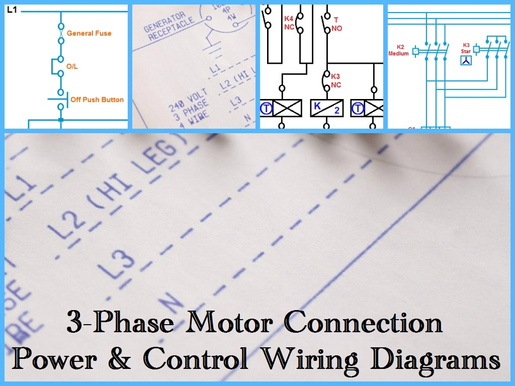 three phase motor wiring connection 480 three phase motor wiring three phase motor power & control wiring diagrams