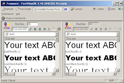 超小巧的免費字型預覽工具,FontViewOK V4.01 綠色免安裝版!