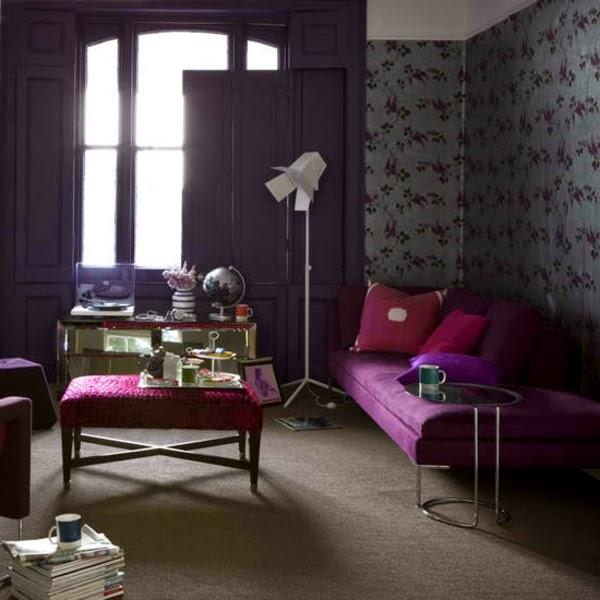 Salas de color morado y gris salas con estilo - Salon gris y morado ...