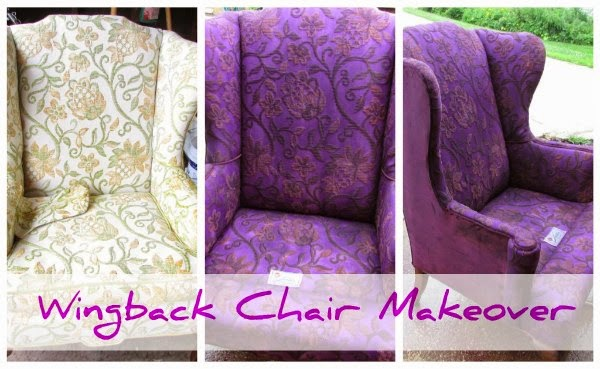 Wingback Chair Makeover @ Rustic-Refined.com