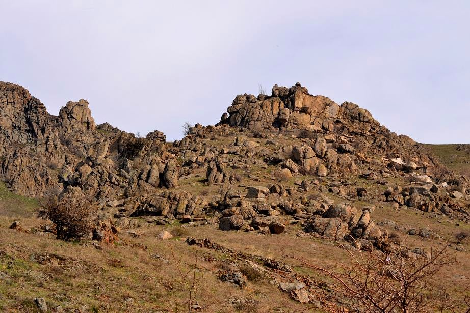 Macin Mountains-  granitic formations