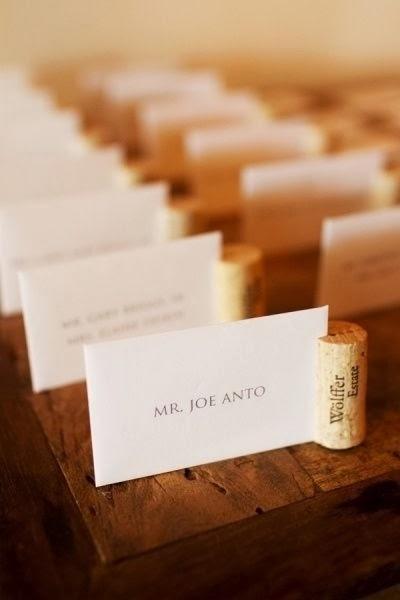 Wine cork place setting
