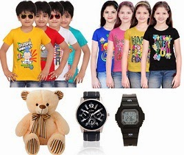 Kids T-Shirts – Flat 50% Off | Dimpy Teddy Bear – Flat 50% Off | Kids Clothing – Flat 60% Off (Limited Period Offer)