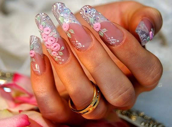 Как сделать свадебный маникюр Розовые мечты