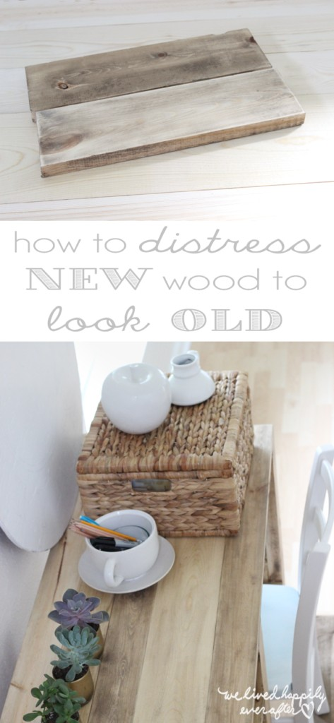 How to Distress New Wood to Look Old