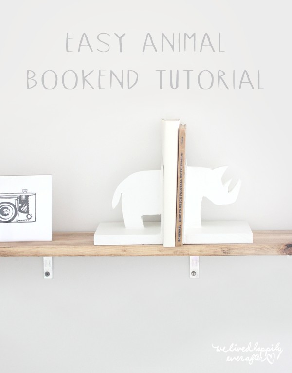 Super Easy DIY Rhino Animal Bookends
